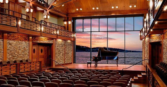 Interior of the Rockport Music/Shalin Liu Performance Center